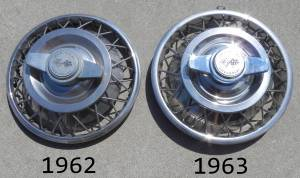 1962 and 1963 Wire Wheel Covers