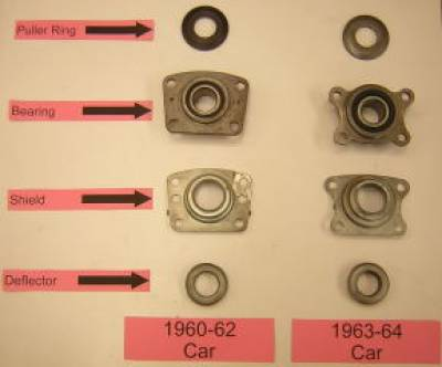 Wheel Bearing Assembly- 1960 2nd design -> 1964 Cars