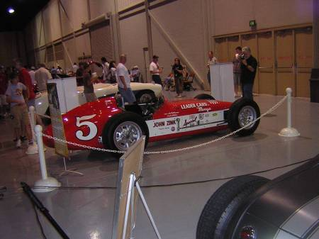 The car John Zink won the Indy 500 with.