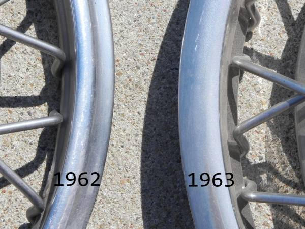 Comparison of 1962 and 1963 outer ring.
