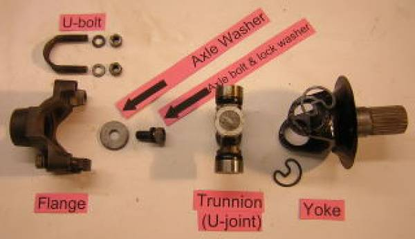 Trunion axle end assembly.