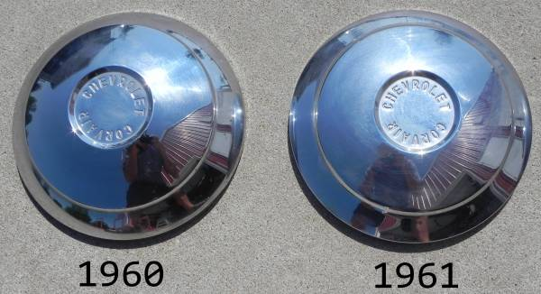 1960-61 hub caps Top View